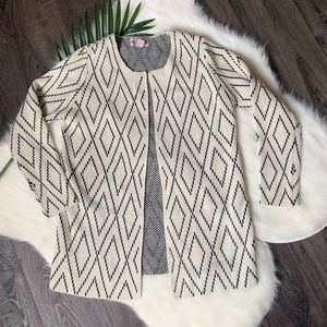 Oliver by Escio anthro open front cardigan jacket